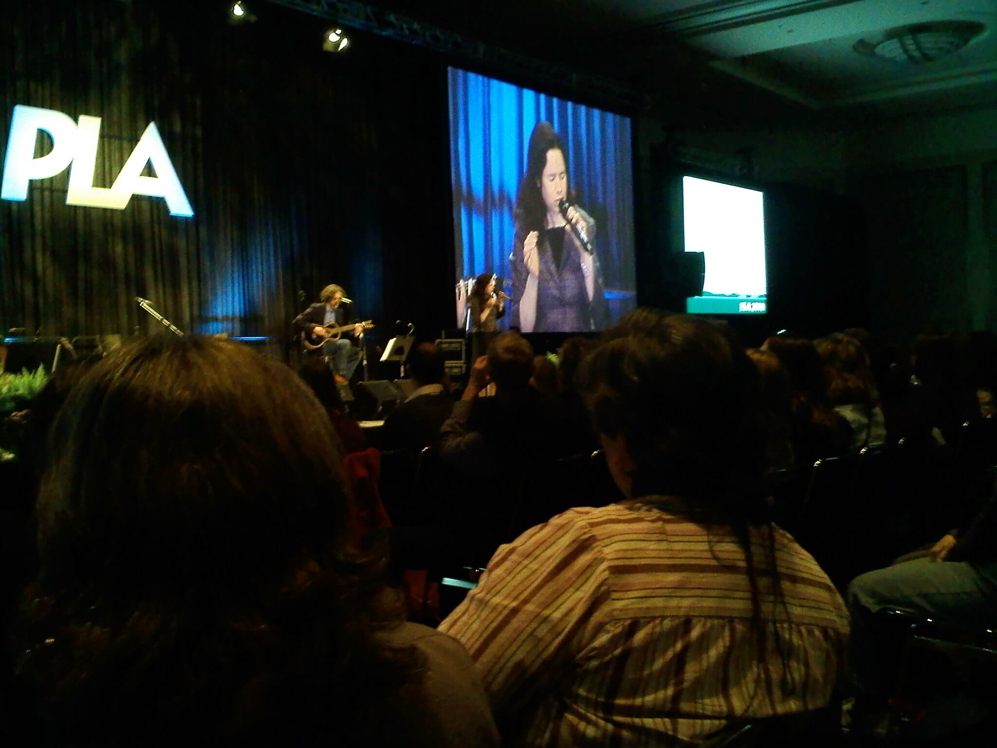 Natalie Merchant sings at the PLA 2010 conference in Portland, OR
