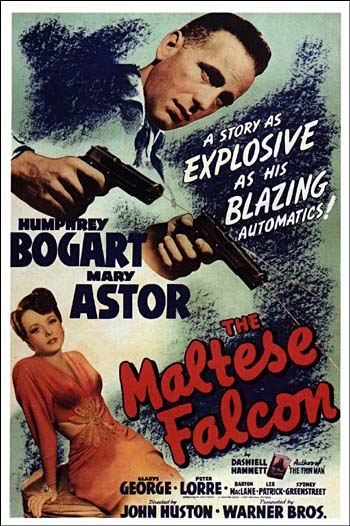 The Maltese Falcon starring Humphrey Bogart and Mary Astor