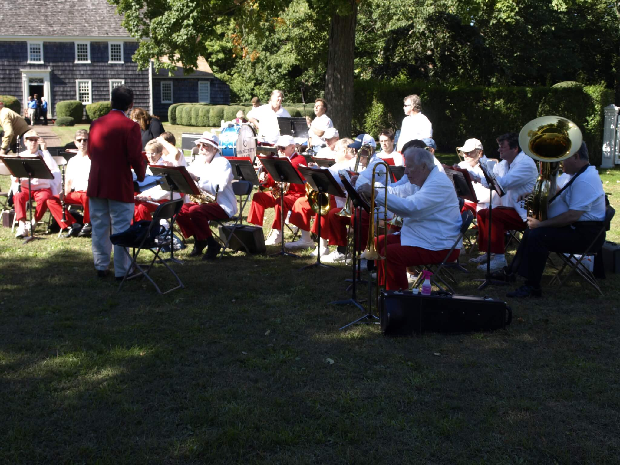 The Sag Harbor Community Band played at JJML's 100th Birthday Community Celebration.