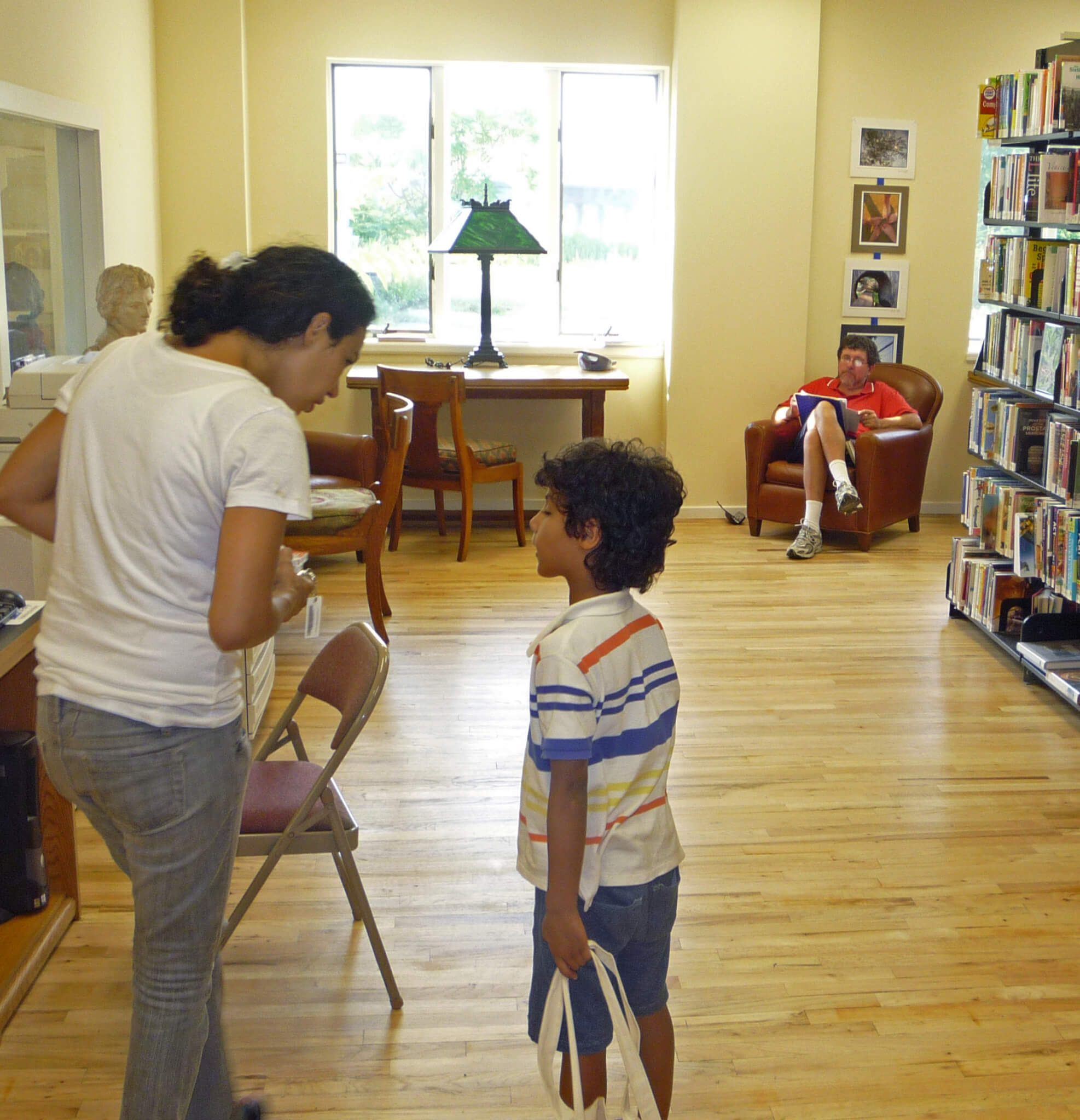 Temporary Library Interior