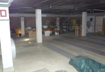 Construction at the John Jermain Memorial Library - interior - basement