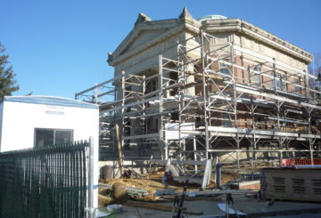 Construction at the John Jermain Memorial Library - exterior