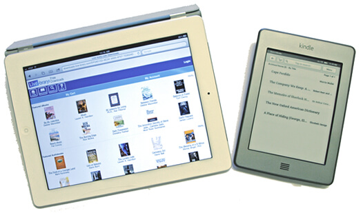 An iPad and a Kindle Touch