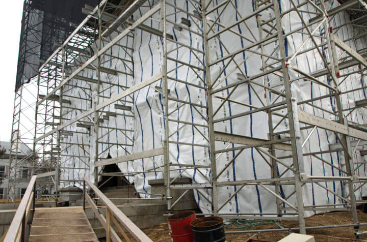 External Scaffolding and Weatherproofing