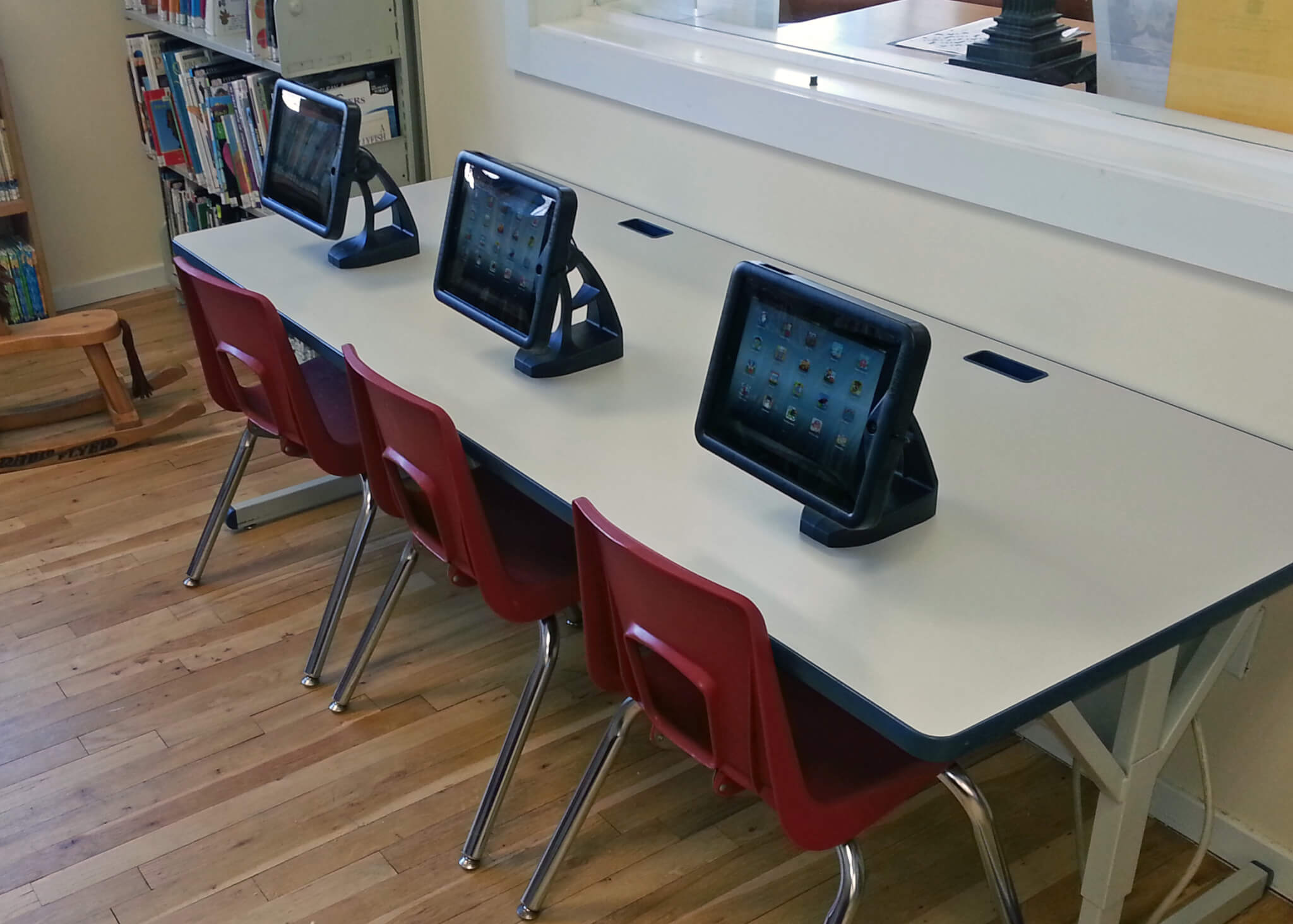 ipad table in children's area