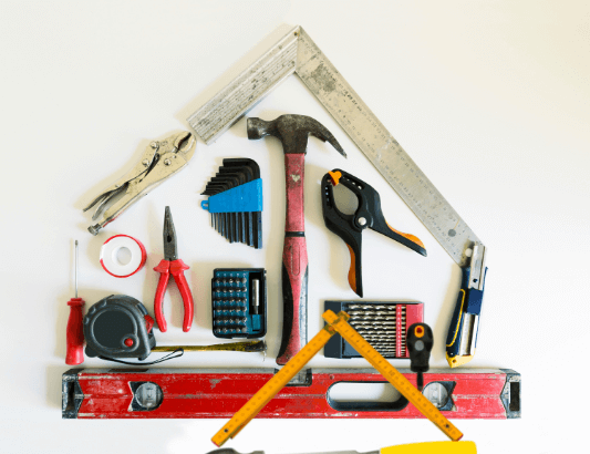 Picture of tools used for home repairs.